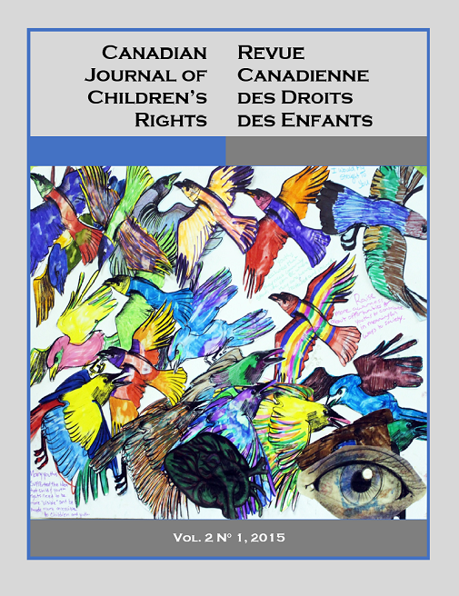 Cover volume 2 Canadian Journal of Children's Rights