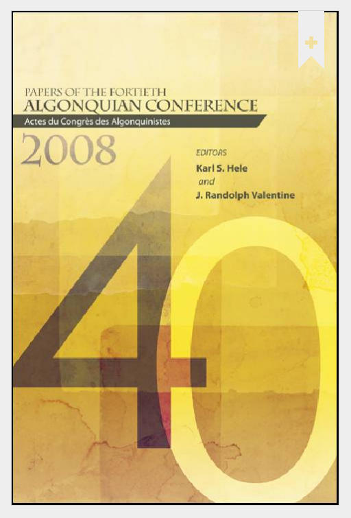cover - Fortieth Algonquin Conference 2008